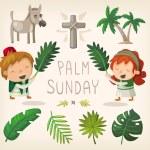 Palm Sunday design elements — Stock Vector #67823285