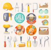 Collection of tools for house remodeling — Stock vektor