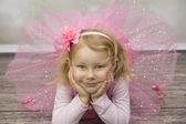 Little ballerina in tulle dress — Stock Photo