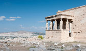 Erechtheion temple on Acropolis Hill, Athens Greece. — Stock Photo
