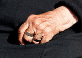 Womans aged hand — Stock Photo