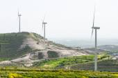Windmill turbine  power generation farm — Stockfoto