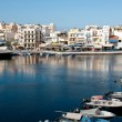 Agios Nikolaos town port in Crete, Greece — Stock Photo #70083357