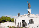 Liberty monument statue landmark in Nicosia, Cyprus — Stock Photo