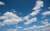 Cloudscape with blue sky and white clouds — Stock Photo