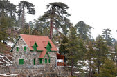 Winter holiday house, Troodos, Cyprus — Zdjęcie stockowe