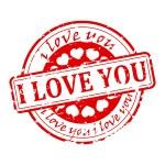 Seal - I love you — Stock Photo #63514679