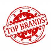 Damaged stamp - Top Brands — Stock Photo