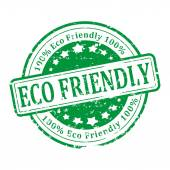 Green Stamp - eco friendly — Stock Photo