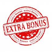 Red stamp - extra bonus — Stock Photo