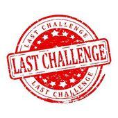 Red stamp - last challenge — Stock Photo
