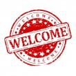 Round red stamp - Welcome — Stock Photo #65040879