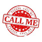 Red Seal - please call me — Stock Photo