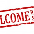 Red stamp - welcome back to school — Stock Photo #65346433