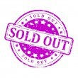 Purple stamp - Sold out — Stock Photo #65359837