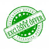 Green Stamp - exclusive offer — Stock Photo