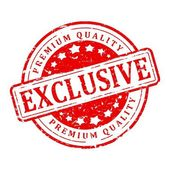 Red stamp - exclusive, premium quality — Stock Photo