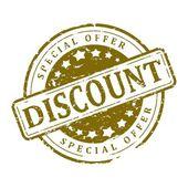 Stamp Round - discount, special offer — ストック写真