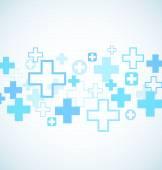 Blue medical design — Vettoriale Stock