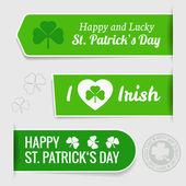 Saint Patrick's day tags — Stock Vector