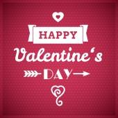 Valentine typographic design — Stock Vector