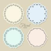 Marcos florales círculo — Vector de stock