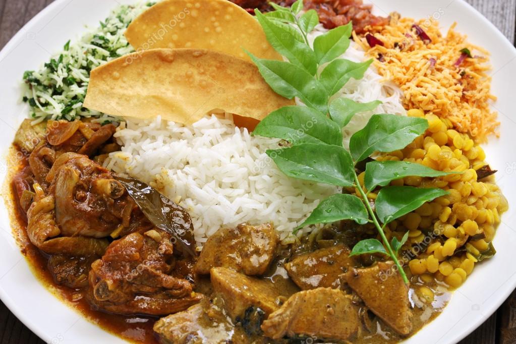 sri lanka reis und curry-gericht ? stockfoto © asimojet #114121712 - Sri Lanka Küche
