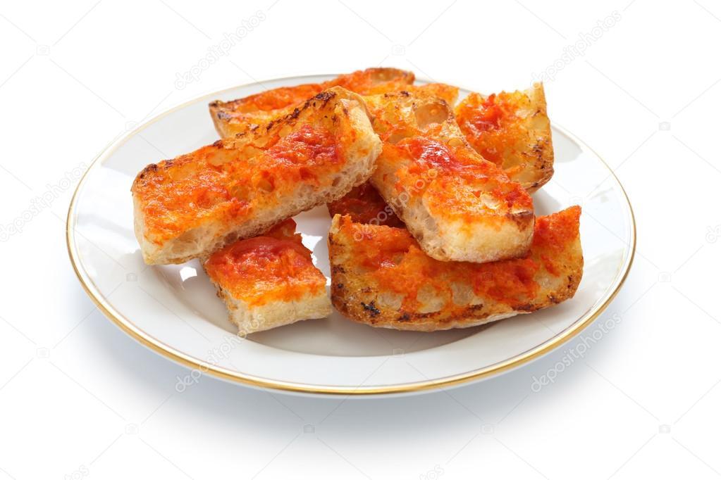 Pan Con tomate, spanische Tomaten Brot — Stockfoto ...