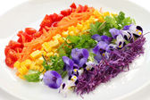 Rainbow salad — Stock Photo