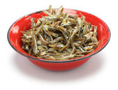 Fried ikan bilis(dried anchovies) , malaysian food — Stock Photo