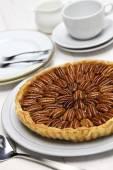 Homemade pecan pie — Stock Photo