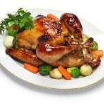 Homemade roast turkey, thanksgiving christmas dinner — Stock Photo #59382513