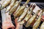 Honmoroko, willow gudgeon, japanese cuisine — Stock Photo