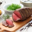 Roast beef with yorkshire pudding — Stock Photo #61475121