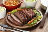 Barbecue beef brisket — Stock Photo