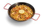 Fideua de marisco, seafood pasta paella, spanish cuisine — Stock Photo