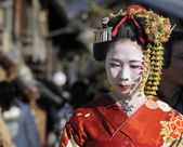 Portrait of a geisha — Stock Photo