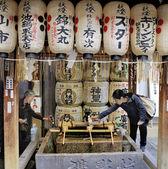 Nishiki tenmangu heiligdom — Stockfoto