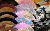 Set of Japanese Folding Fans — Stock Photo