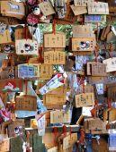Wooden prayer tablets — Foto de Stock