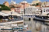 Illustration over the city of Agios Nikolaos Crete Greece — Stockfoto