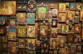 Souvenirs shop Crete Greece - icons — ストック写真