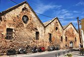 Old granaries of Chania Crete Greece — Stock Photo