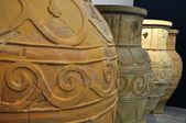 Ceramic objects from Herakleion Archaeological Museum — Zdjęcie stockowe