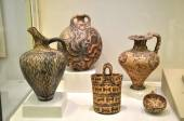 Ceramic objects from Herakleion Archaeological Museum — Stock Photo