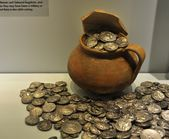 Metal coins from Herakleion Archaeological Museum — Foto de Stock