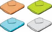 Set of Towels — Stock Vector