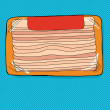 Bacon Package with Label — Vettoriale Stock  #52566607