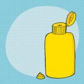 Open Mustard Bottle — Stockvector