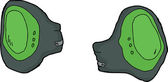 Isolated Knee Pads — Vector de stock